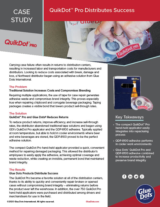 GlueDots_CS_Distributing Success_QuikDotPro